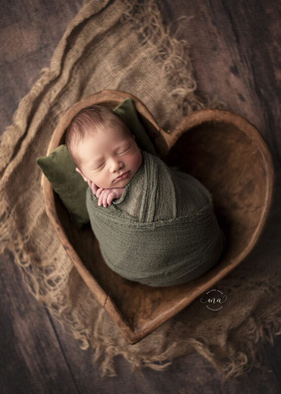 troy michigan newborn photographer melissa anne photography baby in heart bowl